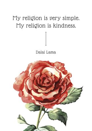 Plantilla de diseño de Citation about very simple religion Poster