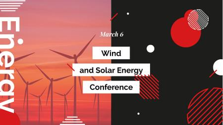 Szablon projektu Wind and Solar Energy Conference Announcement FB event cover