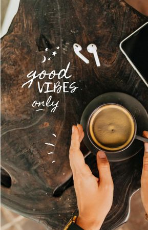 Good Vibes with cup of Coffee IGTV Cover Design Template