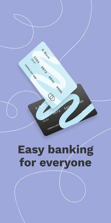 Ontwerpsjabloon van Graphic van Banking Services ad with Credit Cards