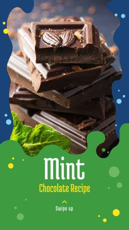 Chocolate Mint recipes Instagram Story Design Template