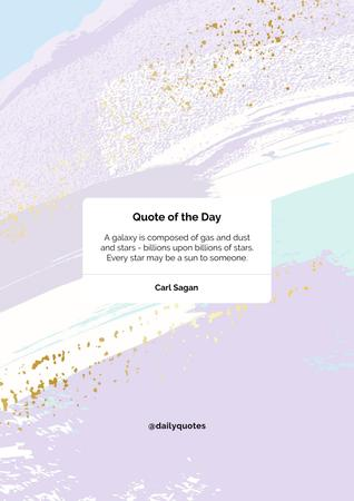 Quote of the day on pink sky Poster Design Template