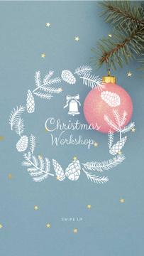 Decorative Christmas wreath in blue