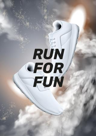 Motivational Quote with pair of sneakers Poster Modelo de Design
