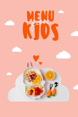 Ontwerpsjabloon van Pinterest van Food for Kids in Cute Rabbit shaped Plate