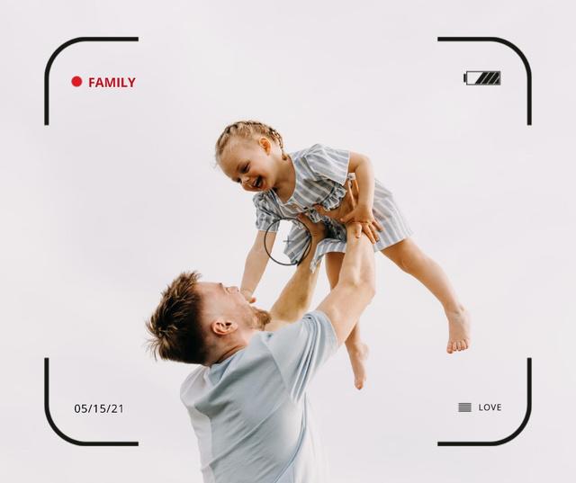 Szablon projektu Family Day Inspiration with Father holding Child Facebook