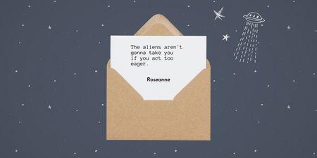 Cute Phrase in Envelope Twitter – шаблон для дизайну