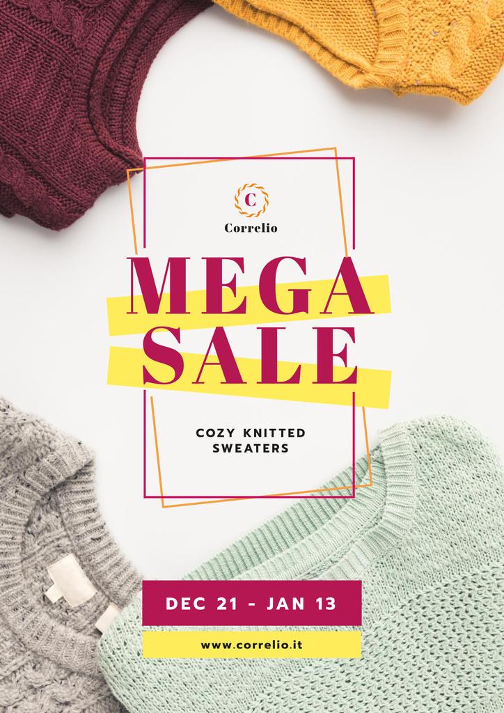 Warm Knitted Sweaters Sale — Créer un visuel
