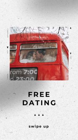 Ontwerpsjabloon van Instagram Story van Speed Dating Ad with Lovers in Bus