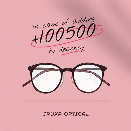 Ontwerpsjabloon van Instagram van Glasses Store promotion in pink
