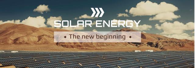 Plantilla de diseño de Energy Supply Solar Panels in Rows Tumblr