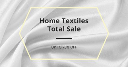 Plantilla de diseño de Home Textiles event announcement White Silk Facebook AD