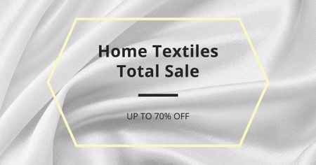 Home Textiles event announcement White Silk Facebook AD Tasarım Şablonu