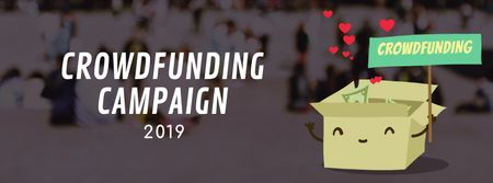 Ontwerpsjabloon van Facebook Video cover van Crowdfunding Campaign Ad Money Filling Box