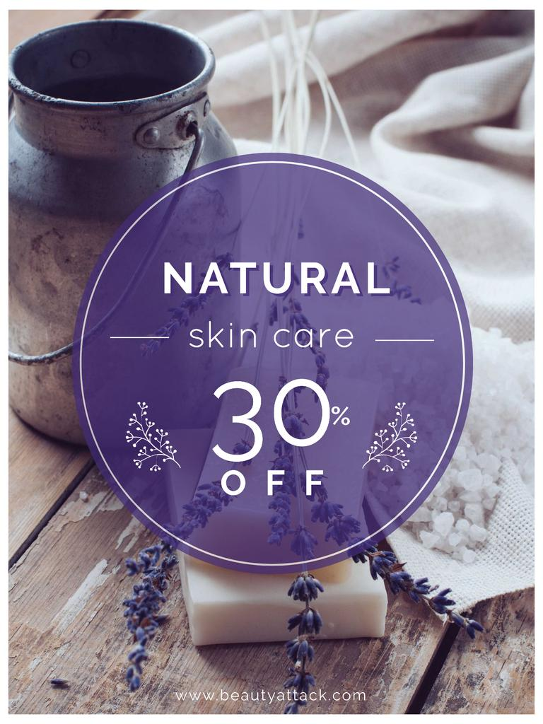 Natural skincare sale with lavender Soap — Crear un diseño