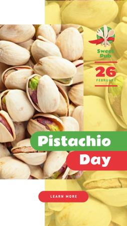 Pistachio Day Offer Salted Nuts Instagram Story Modelo de Design