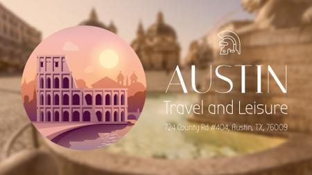 Tour Invitation with Rome Famous Travelling Spots Full HD video Modelo de Design