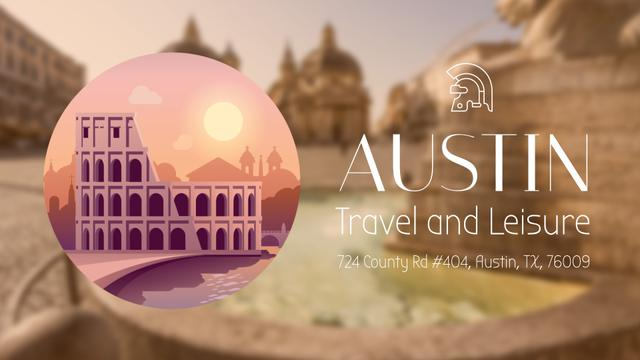Tour Invitation with Rome Famous Travelling Spots Full HD video – шаблон для дизайна