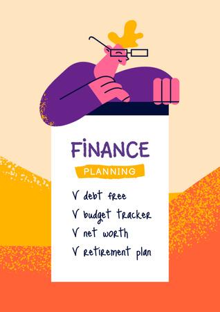 Finance Planning Tips Poster – шаблон для дизайну