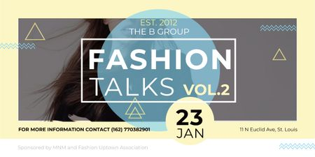 Plantilla de diseño de Fashion talks announcement with Stylish Woman Image
