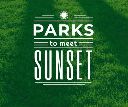 Szablon projektu Parks quote on green Grass Facebook