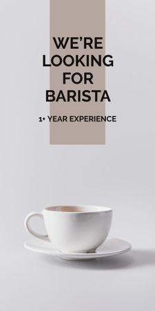 Platilla de diseño Cup of Coffee in white Graphic