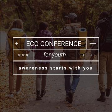 Eco Conference Announcement People on a Walk Outdoors