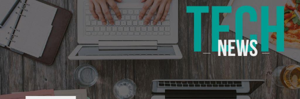 Tech news Ad with Gadgets — Crear un diseño