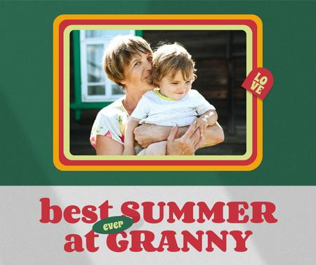 Happy Grandmother with her Grandson Facebook Design Template