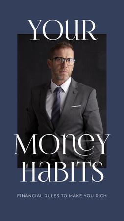 Ontwerpsjabloon van Instagram Story van Confident Businessman for Money Habits