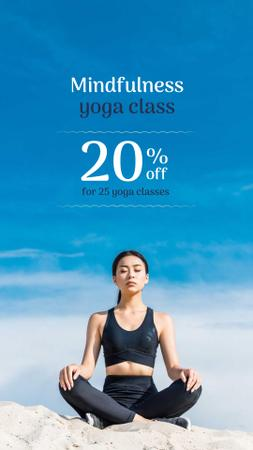 Yoga Classes Discount Offer Instagram Storyデザインテンプレート