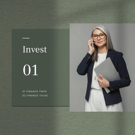 Designvorlage Confident Businesswoman for investment concept für Instagram