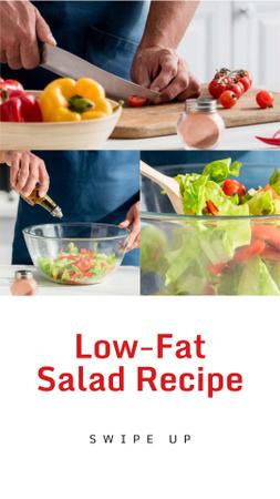 Plantilla de diseño de Cooking Blog Ad Chef Cutting Vegetables Instagram Story