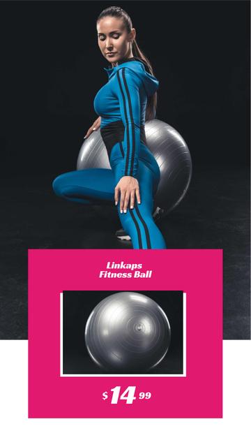 Fitness Ball Sale Ad Instagram Story Modelo de Design