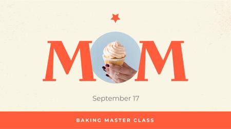 Baking Masterclass on Mother's Day Announcement FB event cover Modelo de Design