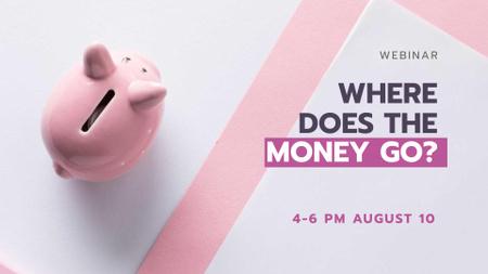 Ontwerpsjabloon van FB event cover van Budgeting concept with Piggy Bank