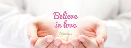 Ontwerpsjabloon van Facebook cover van Charity Ad in Female Palms