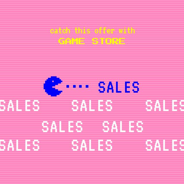 Szablon projektu Game Store Bright Sale Offer Instagram