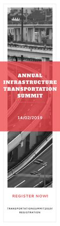 Annual infrastructure transportation summit Skyscraperデザインテンプレート