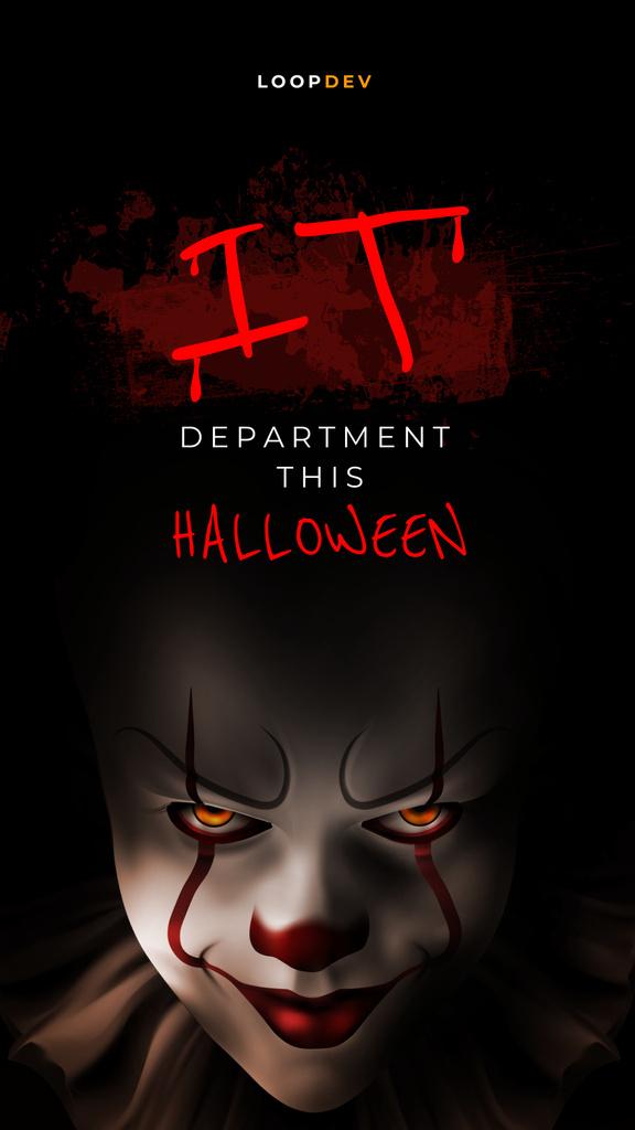 Halloween Announcement with Creepy Clown Instagram Story – шаблон для дизайна