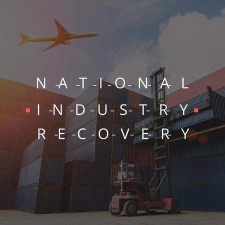 National industry recovery with Plane Instagram Tasarım Şablonu