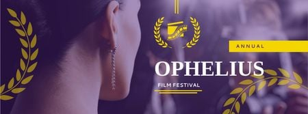 Plantilla de diseño de Film Festival Announcement with Actress Facebook cover