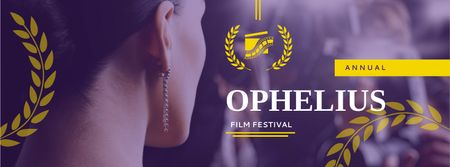 Template di design Film Festival Announcement with Actress Facebook cover