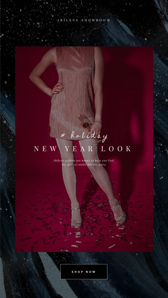 Woman in New Year Party Outfit — Créer un visuel