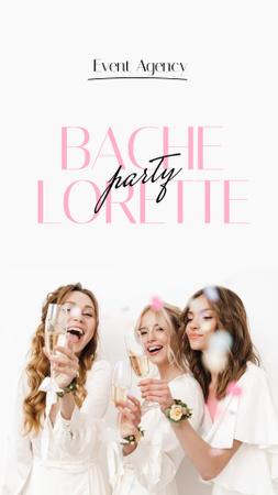 Happy Bridesmaids with Bride on Hen Party Instagram Story – шаблон для дизайну