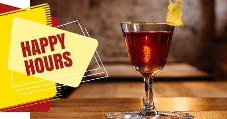 Bar Promotion Glass with Cocktail Facebook AD – шаблон для дизайну