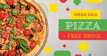 Modèle de visuel Pizza restaurant offer - Facebook AD