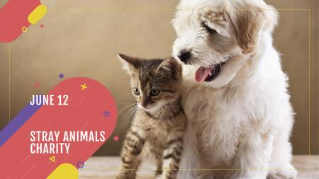 Modèle de visuel Charity event with Cute Pets - FB event cover