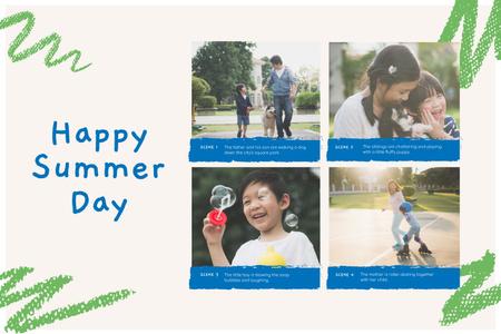 Family on Happy Summer Day Storyboard – шаблон для дизайну