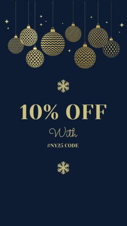 Designvorlage New Year's Special Discount Offer für Instagram Story